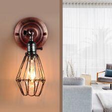 Vintage Antique Industrial Sconce Loft Bar Rustic Metal Iron Wall Light Lamp LED