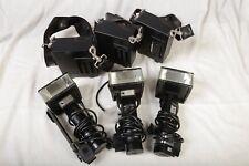 METZ 60 CT flash con generatore fotografico, lotto di 3 di cui solo uno rotto.