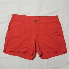 "Columbia Womens Omni-shield Shorts 10 Coral 4.5"" Inseam Hiking Camping"