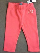 BABY GAP BRIGHT PINK SWEATPANTS WITH SMALL WHITE LOGO ON LEFT LEG - AGE 12- BNWT