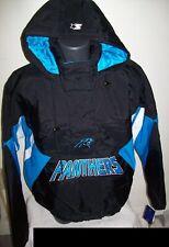 CAROLINA PANTHERS NFL Starter Hooded Half Zip Pullover Jacket   M L 2X BLACK