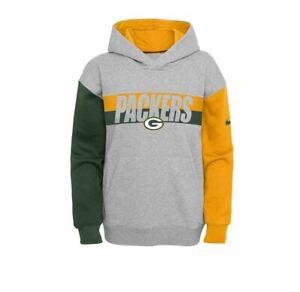 Green Bay Packers Nike Youth Boys Heritage Tri-Blend Pullover Hoody Sweatshirt