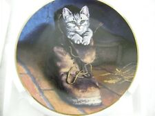 "W. S. George ""Puss In Boot"" Victorian Cat Capers Fine Porcelain Collectors Plate"