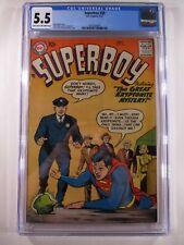 SUPERBOY #58 CGC 5.5 FN- DC Comics 1957