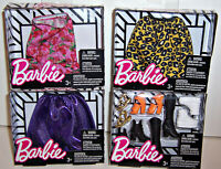 LOT/4 BARBIE DOLL FASHION CLOTHES ACCESSORIES SKIRTS SHOES Boots Sneakers NEW!!