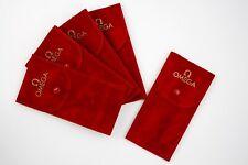 4+1 Omega Pochette Orologi Rosse Stampa Logo Gold Tessuto Floccato Antigraffio