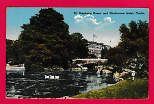 Dated 1955. St. Stephen's Green and Shelbourne Hotel, Dublin