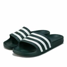 Men's adidas Adilette Aqua Slip on Regular Fit Slider Sandals in Green