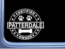 "Certified Patterdale Terrier L340 Dog Sticker 6"" decal"