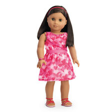 "American Girl TRULY ME RED HEARTS RUFFLE OUTFIT for 18"" Dolls Clothes NEW"
