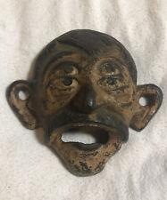 New listing Antique Original Cast Iron Bottle Opener Four Eye Old Surface embossed 49