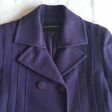 EMPORIO ARMANI WOMEN WOOL PURPLE COAT SIZE 44/10 (US)