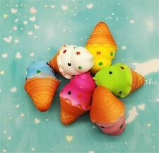 9cm Ice Cream Squishy Bun Cake Slow Rising Bread Toy Phone Straps Stress Relief