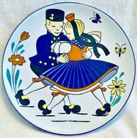 Western Germany Decorative Plate Boy & Girl Dancing Vintage Waechtersbach 8Inch