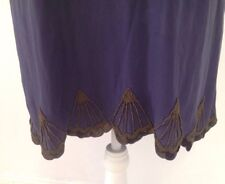 THURLEY Silk Tunic Dress With Beaded Trim - Size 10