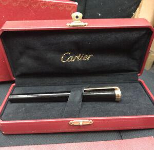 Cartier De Black Composite 18kt Yellow Gold Fountain Black Pen