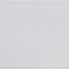 # F02 White Matte 2' x 2' PVC Decorative Border Ceiling Tile  Glue Up / Grid