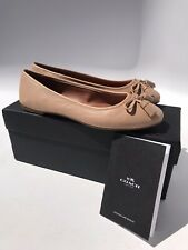 Coach Bea Leather Flat Beachwood (Size 7B) $150