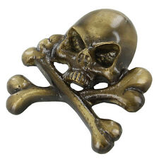 Brass Jolly Roger Pirate Hat Ornament Clothing Stud Decoration Adornment