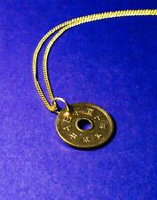 Japanese 5-Yen Coin Pendants,  Bright or Aged