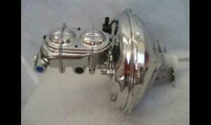 """1964 - 1972 Chevy 11"""" Chrome GM Brake Booster Bail Top Master Cylinder Chevelle"""