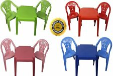 Kids Childrens Plastic Garden or Inside table and chairs set for Boys and Girls