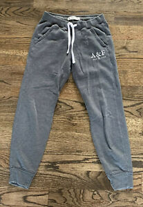 LIGHTLY WORN Abercrombie & Fitch Gray Embroidered Sweatpants Size XS