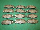 12 CAST IRON BROWN PULLS DRAWER CABINET BIN HANDLES RUSTIC BARN DRESSER KNOBS