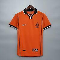 1998 Netherlands Home Retro Soccer Jersey