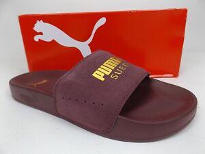 Puma Leadcat Suede Classic Slide Sandals Mens Size 7.0 M, Wine, NEW,  19353