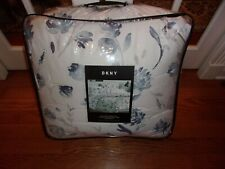 Nip Dkny Hudson Floral White/Blue Full Queen Comforter & Shams Set 3pc