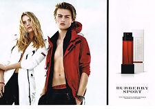 PUBLICITE ADVERTISING 104  2010  BURBERRY SPORT (2p ) nouveau parfum pour femme
