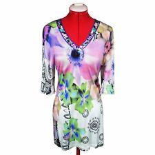 ROBERTO CAVALLI Women Floral Dress Size S Womens Stretch Dress Sz S Lace Details