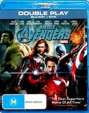 Marvel THE AVENGERS New Blu-Ray + DVD ROBERT DOWNEY JR CHRIS HEMSWORTH ***