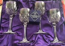 More details for edinburgh crystal, four wine glasses, boxed set, unused.