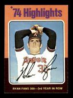 1975 Topps Set Break # 5 Nolan Ryan Highlights NM-MINT *OBGcards*