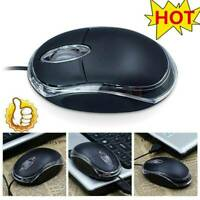 Wired Usb Optical Mouse For PC Laptop Computer Scroll For Laptop Wheels New