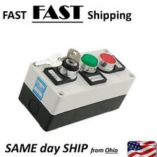 Lock Out Box with 2 push button & key switch INDUSTRIAL control box green red