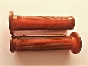 MOTO MORINI/DUCATI/GUZZI BAR GRIPS BROWN  CLOSED  END WITH THROTTLE RIDGE GRIP