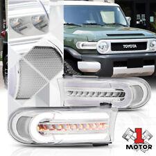 Chrome/Clear LED DRL[SEQUENTIAL SIGNAL]Bumper/Corner Light for 07-14 FJ Cruiser