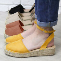 Women's Fashion Casual Strappy Thick-Bottom Sandals Platform Closed Toe Shoes