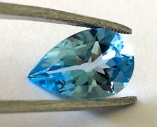 6.33 CT NATURAL PEAR SHAPE CUT BLUE TOPAZ LOOSE GEMSTONE FOR JEWELRY DESIGN