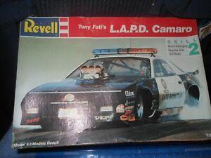 """1991 Vintage Revell,1:24,Tony Foti's """"L.A.P.D. Camaro"""" Drag car Model Kit,HTF.!!"""