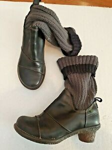 El Naturalista UE 42 USA 9 Boots Booties with Knit Sock