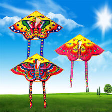 1PC Butterfly Printed Long Tail Kite Children Kids Outdoor Garden Fun Toys KK