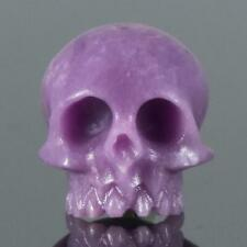 Human Skull Natural Phosphosiderite Bead 12.62 mm Carving 1.98 g