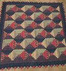antique vintage quilt 83x83 Beautiful!