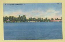 Vintage Postcard Municipal Lake, Rocky Mount, N.C.