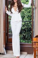 Elie Saab white jacket, 36, slighly used. Matching Trousers Available .
