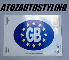 Euro GB Sticker Oval Decals Car Travelling European EU Travel Abroad  <<NEW>>